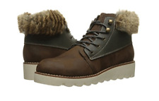 NEW ROCKET DOG SHELBY BROWN ANKLE BOOTS WOMENS 9.5 W/FUR TRIM