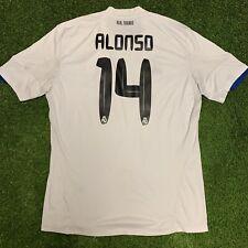 2010 2011 Real Madrid Xabi Alonso Jersey Shirt Kit Xl Adidas White Home Blue 14