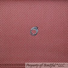 BonEful Fabric FQ Cotton Quilt Red Maroon Natural Tan Calico Stripe Dot Colonial