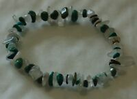 TURQUOISE AND MOONSTONE CHIP BEAD HEALING CRYSTAL BRACELET