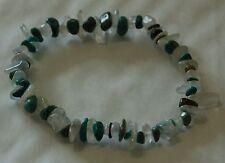 Turquoise et pierre de lune Chip Bead Healing Crystal Bracelet