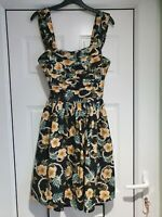 Pretty Atmosphere Black Floral Sleeveless Dress, Fit & Flare, Size 10, NWD