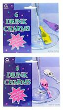 Amscan Drink and Cocktail Glass Party Charms 10 Packs - 60 Bottle and Glass Char