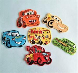Cartoon Vehicle/Racing Cars Sew or Iron-On Patch, Motif, Embroidered Applique, K