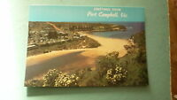 OLD AUSTRALIAN POSTCARD 1970s PORT CAMPBELL VICTORIA, VIEW OF TOWN