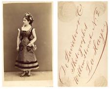 De Lavieter, La Haye Une actrice prend la pose CDV vintage albumen carte de visi
