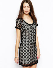 NWT $288 French Connection USA HOPE Black Lace Dress Sz 0,2,4,6,8