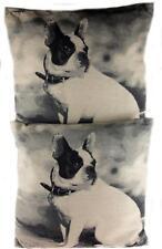 Set Of  2 Luxury 45 cm French Bull Dog Body Portrait Dog Cushions