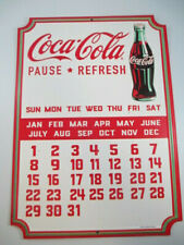 Coca-Cola Embossed Magnetic Calendar Sign with Magnets