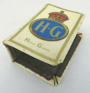 Vintage WW2 Home Guard Matchbox Cover