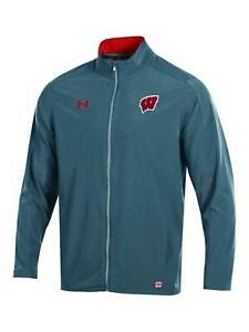 Wisconsin Badgers Under Armour Gray On-Field Stealth Charger Warm Up Jacket