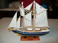 WOODEN SAILBOAT/CLIPPER SHIP ON WOODEN BASE / KEY WEST