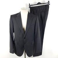 Joop! Anzug FO-Molay-Blenn Herren Gr. 48 Grau Nadelstreifen Wolle Sakko Hose