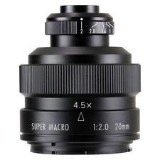 Zhongyi Mitakon 20mm f/2 4.5X Super Macro Lens for DSLR Canon Nikon Pentax Sony