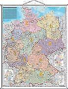 Postleitzahlen-Karte Deutschland 1 : 750 000. Wandkarte Grossformat mit Metallstäben von Heinrich Stiefel (2014, Karte)