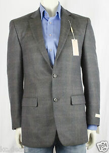 NEW MICHAEL KORS 38 LONG  PLAID TWO BUTTON  JACKET SPORTCOAT MSRP $350 AS123