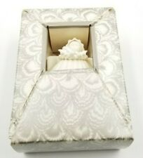 "Vintage Christmas Ornament Margaret Furlong Sea Shell Angel Holly 3"" 1983"