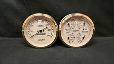 "5 "" Quad Gold Mech Street Rod Gauge Set  STREET ROD HOT ROD, UNIVERSAL"