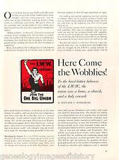"""I. W. W. """"Wobblies""""  Union History + Genealogy"""