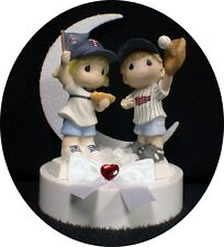 Minnesota Twins Baseball Wedding Cake Topper FANS Top PRECIOUS MOMENTS BASE BALL