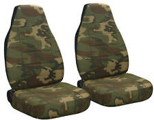 TOYOTA TUNDRA CAR SEAT COVERS CAMO BROWN GREEN COOL!
