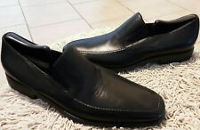 Bruno Magli Raging Loafer shoes Black Leather Sz 11Italy / 12 USA