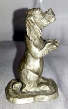 Kraczlowski Fine Pewter Dog Puppy Figurine Little Gallery 1975 Hallmark Cards US