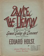 EDUARD HOLST advanced piano solo DANCE OF THE DEMON grand galop ~ 7 pages 1888