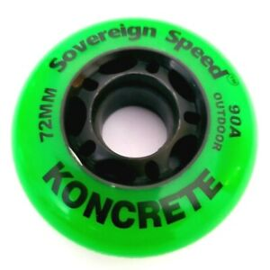 8-Pack 72mm YOUTH Outdoor Inline Skate Wheels, Rollerblade Hockey Fitness 90a