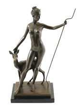 Bronze Figure by Edward McCartan - Diana and Doe - signed