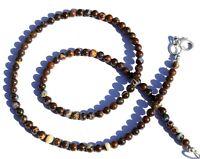 """Natural Gem Australian Boulder Opal Flashy Fire 4.5MM Round Beads Necklace 16.5"""""""
