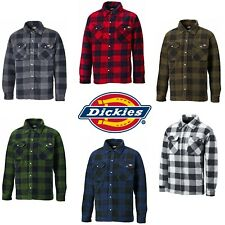 Dickies Portland Shirt Mens Fleece Padded Lumberjack Stud Work Jacket SH5000