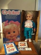 "VINTAGE 1986 PLAYMATES CRICKET 25"" TOY Doll +BOX+CASSETTES+BOOK WORKING TALKING"
