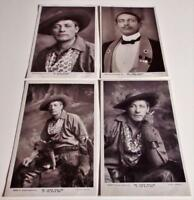Lewis Waller in The White Man - 4 x Real Photo Postcards of Edwardian Actor