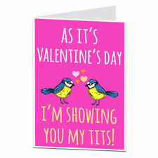 Funny Valentine's Day Card For Him Husband Boyfriend Silly Quirky Design