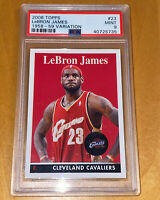 🔥💎2008 LeBron James TOPPS 1958-59 VARIATION RETRO #23 PSA 9 BGS lakers