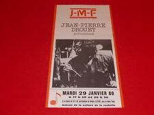 COLL.J. LE BOURHIS AFFICHES Musique contemporaine / J.-P DROUET LA ROCHELLE 80