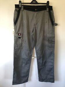 Mens Dickies work trousers 38L 32W Grey