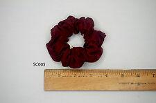 Silk Hair Scrunchies Ponytail Holder Elastic Ties Hair Band Red Wine SC005
