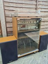 More details for vintage hitachi hi fi with original cabinet and speakers