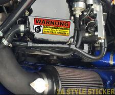Warnung Turbo Aufkleber Auto Turbo Fun Sticker turbo 4Zylinder turbo vr6 oem d13