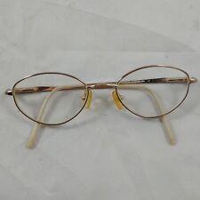 id Vtg Gold Wire Frame Rimmed Prescription Eyeglasses Steampunk Hip Costume #3