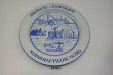 DDR Wandteller FDJ 1968-75 Jugendobjekt Kernkraftwerk KKW Nord Greifswald 211045
