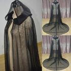 Hooded Cloak Bride Tull Cape Wrap Formal Wedding Cape Black Long Jacket Shawl