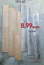 Piastrelle Pavimento Gres 15 x 60 EFFETTO LEGNO 1 SCELTA NOCE / GRIGIO 8,99 €