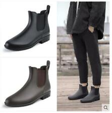 Mens pull on antiskid Chelsea boots ankle rain boots waterproof warm shoes DIY
