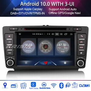Android 10.0 car radio carplay for skoda octavia yeti wifi 4g dvr dvb-t 4 core