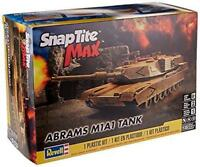 REVELL 1230 MODERN US ARMY ABRAMS M1A1 TANK SNAP FIT Plastic Model Kit FREE SHIP