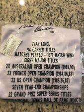 Ivan Lendl Autographed/Signed Polo Shirt Statistic Jersey JSA COA Tennis