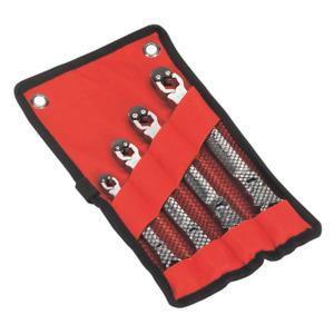 Sealey VS0343 Écrou Évasé Frein Tuyau Set Clé à Molette 4Pc Cliquet 8mm - 15mm